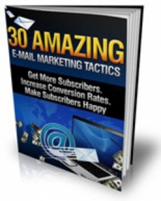 Product picture 30 Amazing Email Marketing Tactics (MRR)  30 Amazing Email M